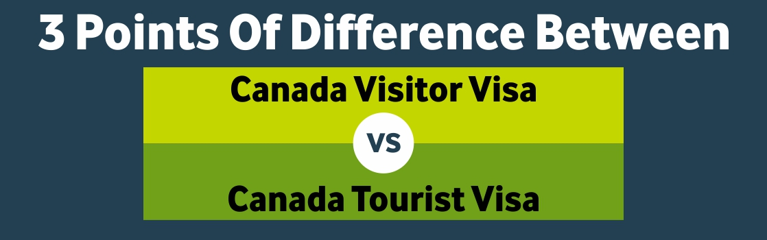 3 Points Of Difference Between Canada Visitor Visa And Tourist Visa